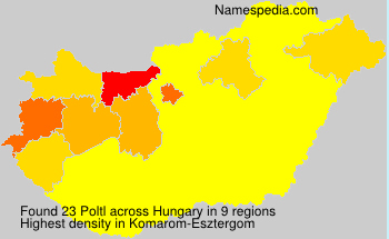 Surname Poltl in Hungary