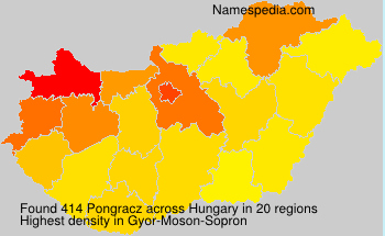 Surname Pongracz in Hungary