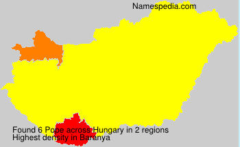 Surname Pope in Hungary