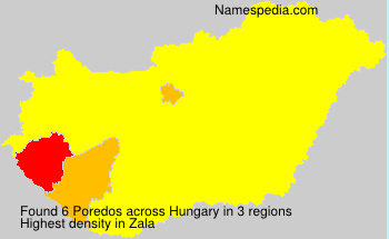 Surname Poredos in Hungary