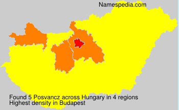 Surname Posvancz in Hungary