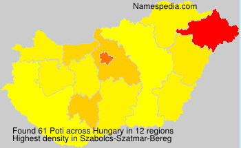 Surname Poti in Hungary