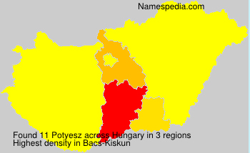 Surname Potyesz in Hungary