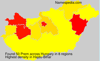 Surname Prem in Hungary
