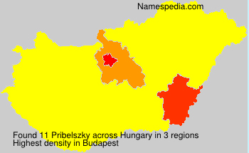 Surname Pribelszky in Hungary