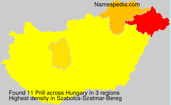 Surname Prill in Hungary