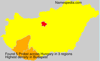 Surname Probst in Hungary