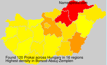 Surname Prokai in Hungary