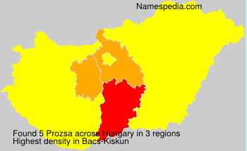Surname Prozsa in Hungary