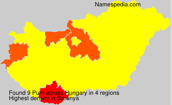 Surname Pum in Hungary