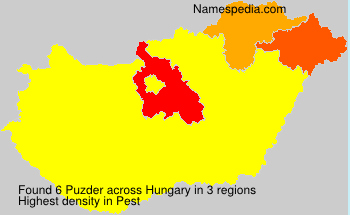 Surname Puzder in Hungary