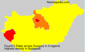 Surname Rabe in Hungary