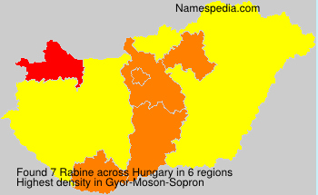 Surname Rabine in Hungary