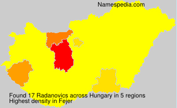 Surname Radanovics in Hungary