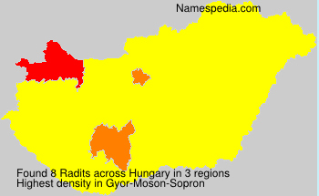 Surname Radits in Hungary