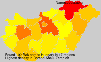 Surname Rak in Hungary