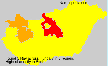 Surname Ray in Hungary