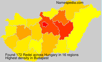 Surname Redei in Hungary