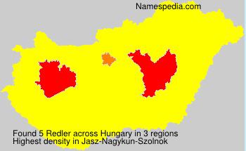 Surname Redler in Hungary