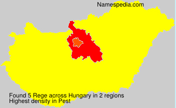 Surname Rege in Hungary