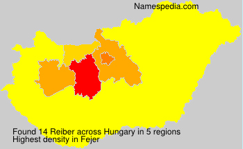 Surname Reiber in Hungary