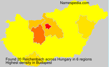 Surname Reichenbach in Hungary