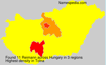 Surname Reimann in Hungary