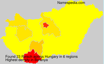 Surname Reisch in Hungary