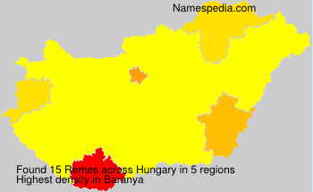 Surname Remes in Hungary