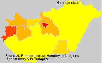 Surname Remport in Hungary