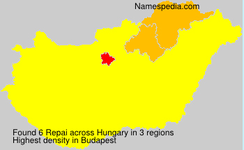 Surname Repai in Hungary
