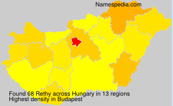 Surname Rethy in Hungary