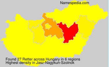 Surname Retter in Hungary