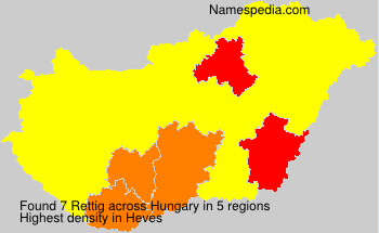 Familiennamen Rettig - Hungary
