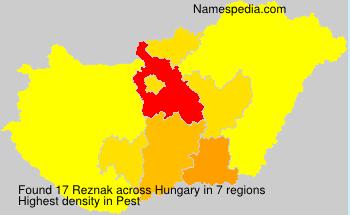 Familiennamen Reznak - Hungary