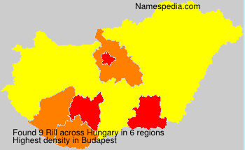 Surname Rill in Hungary