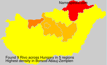 Surname Rivo in Hungary