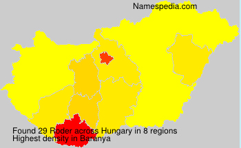 Surname Roder in Hungary