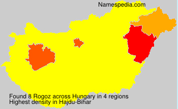 Surname Rogoz in Hungary
