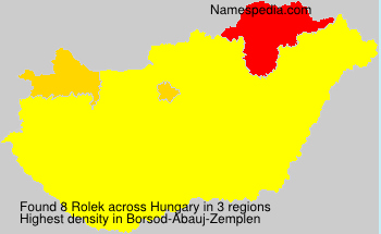 Surname Rolek in Hungary