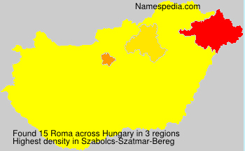 Surname Roma in Hungary
