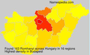 Surname Romhanyi in Hungary