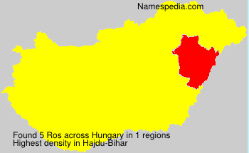 Surname Ros in Hungary