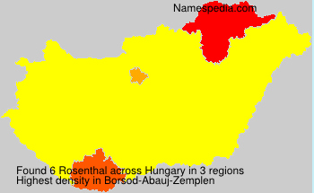 Surname Rosenthal in Hungary