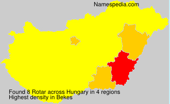 Surname Rotar in Hungary