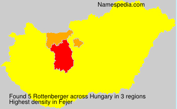 Surname Rottenberger in Hungary