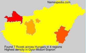 Familiennamen Rozek - Hungary