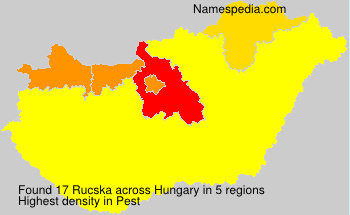 Familiennamen Rucska - Hungary