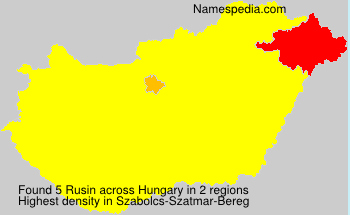 Surname Rusin in Hungary