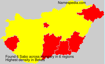 Surname Sabo in Hungary